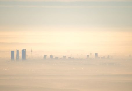 Vista de la contaminación en Madrid
