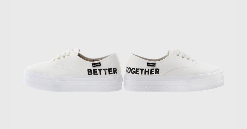 Zapatillas Victoria Better Together blancas
