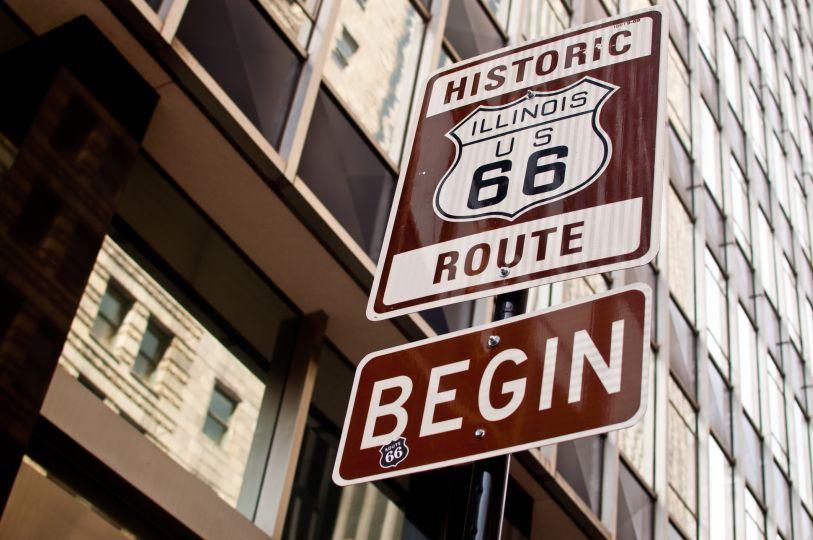 inicio de la ruta 66 en moto