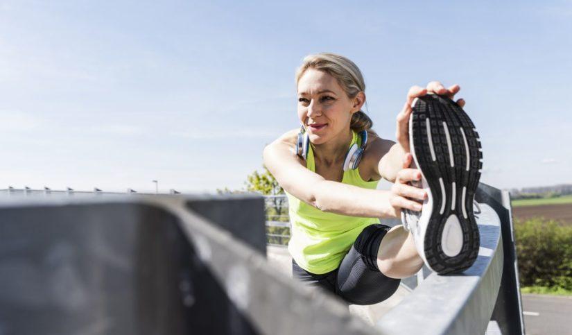 estiramientos para running mujer